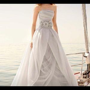 White by Vera Wang Textured Organza Wedding Dress